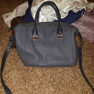 Merona Smokey Blue Grey Crossbody HandBag